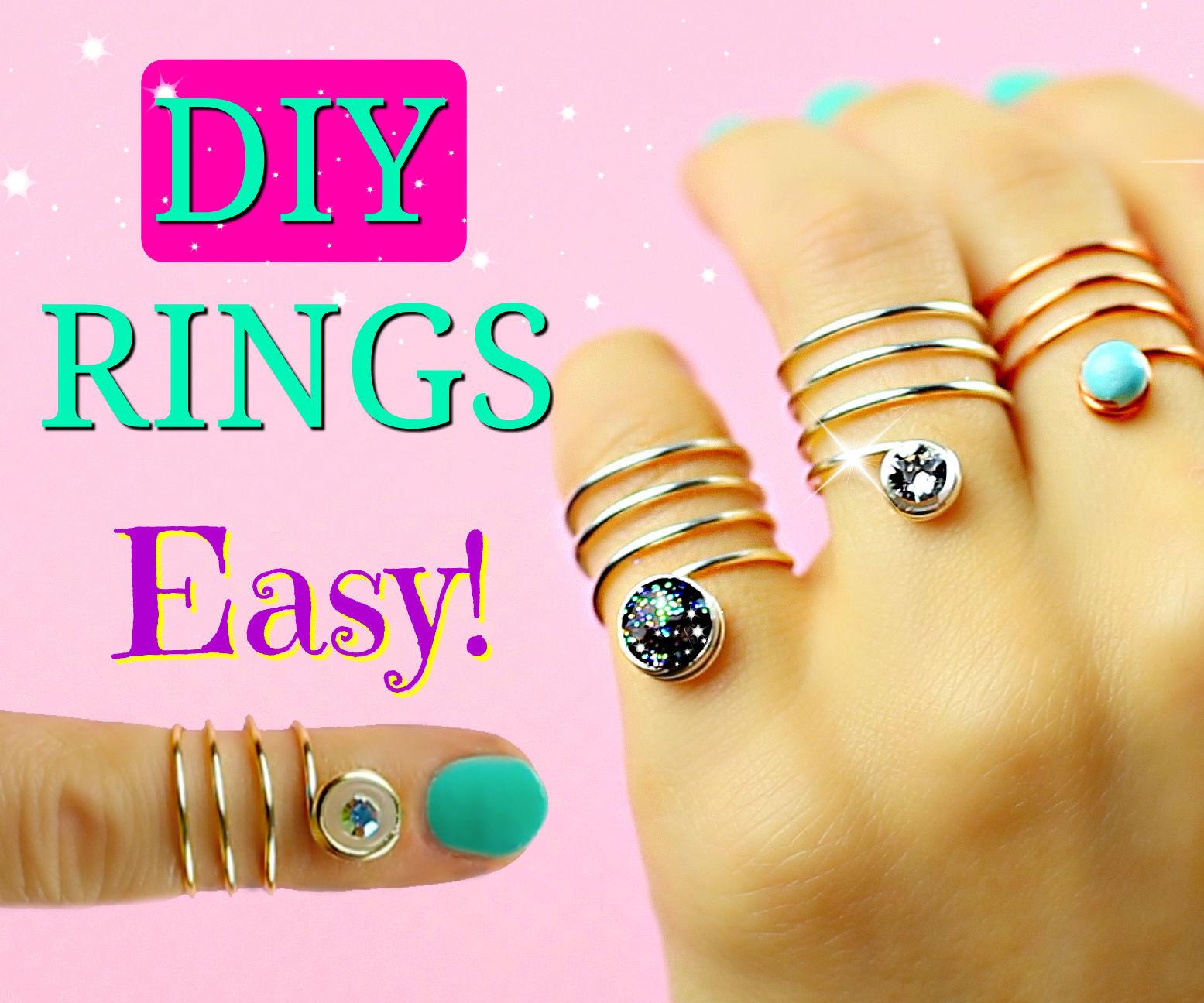 DIY rings - Galaxy, Diamond, Opal.. No Tools!