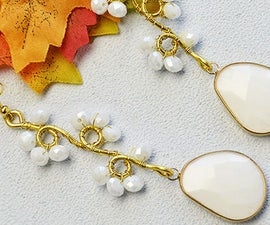 Beebeecraft Tutorials on How to Make White Wrapped Glass Flower Earrings