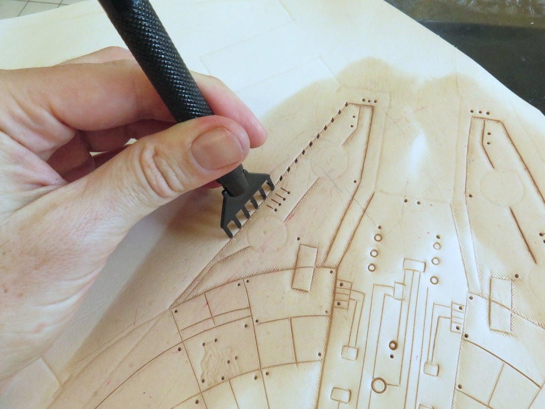 Punching Sewing Holes