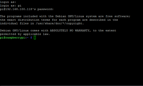Step 2: Enter IP of Rpi in Ubuntu Terminal Via SSH Command