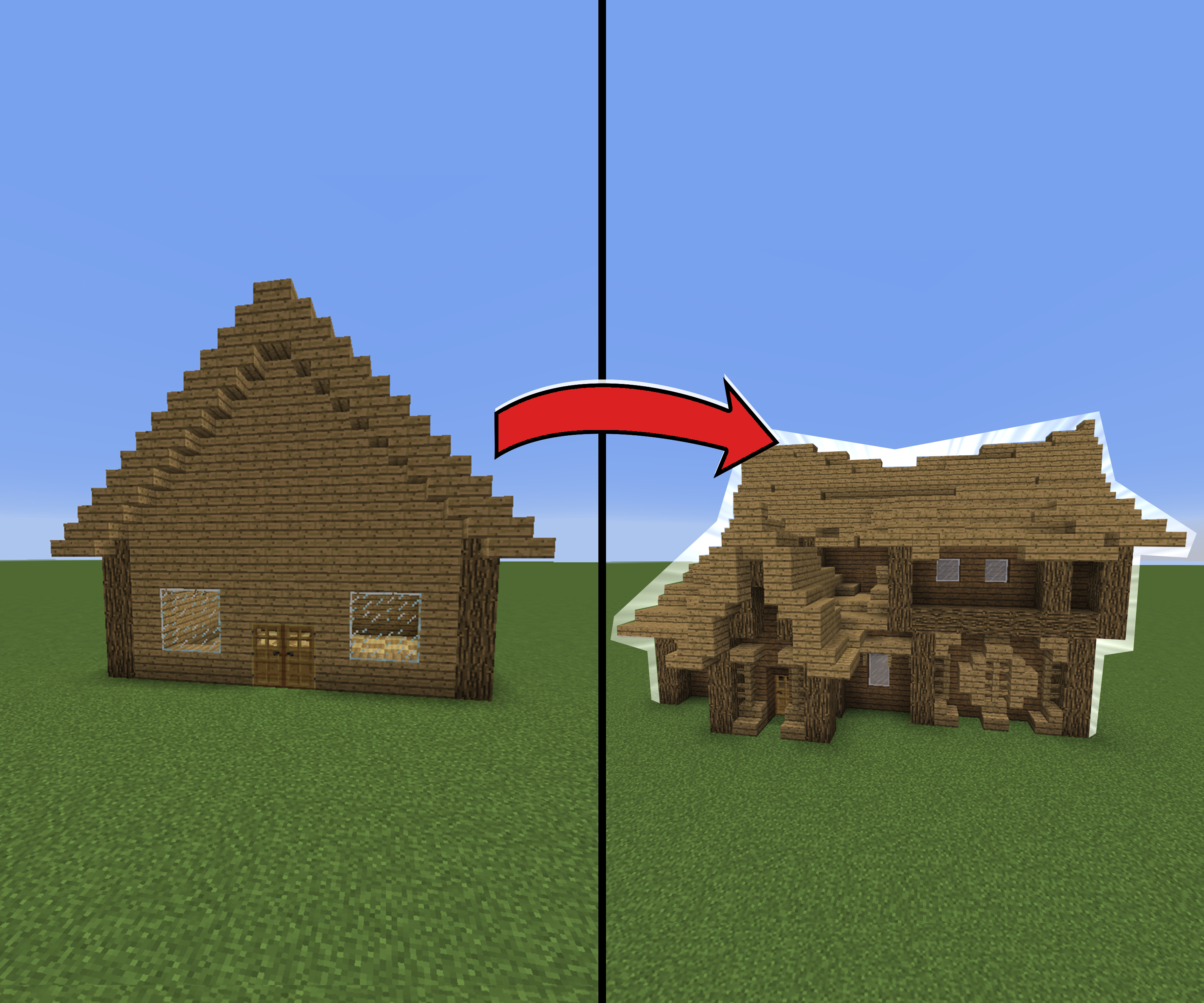 How To Make Amazing Looking Houses In Minecraft 6 Steps Instructables