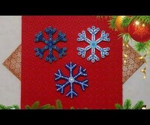 How to Dot Paint Christmas Ornaments - Snowflake Christmas Ornament DIY