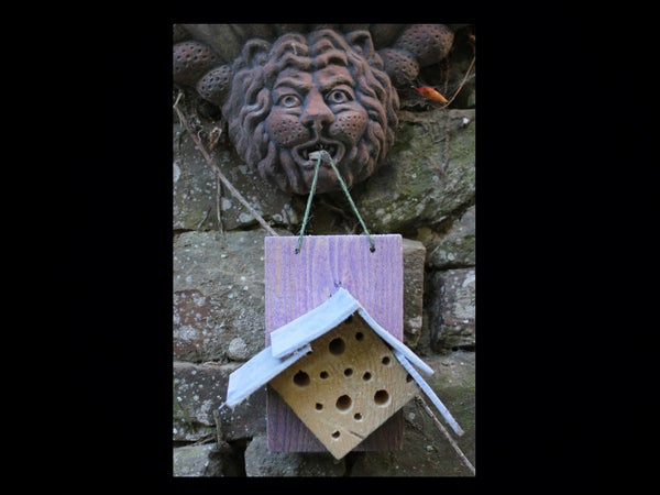 4 Home-made Insect Hotels - Motels, Eco Lodges, Chalets and Gites.  4 Hotels Aux Insectes.