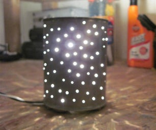Star Lamp From Coffee Can