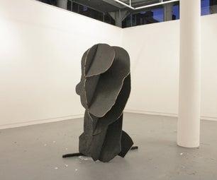 PROFILE - Large-scale Facebook-avatar Sculpture - 123D-Make Without Lasercutter