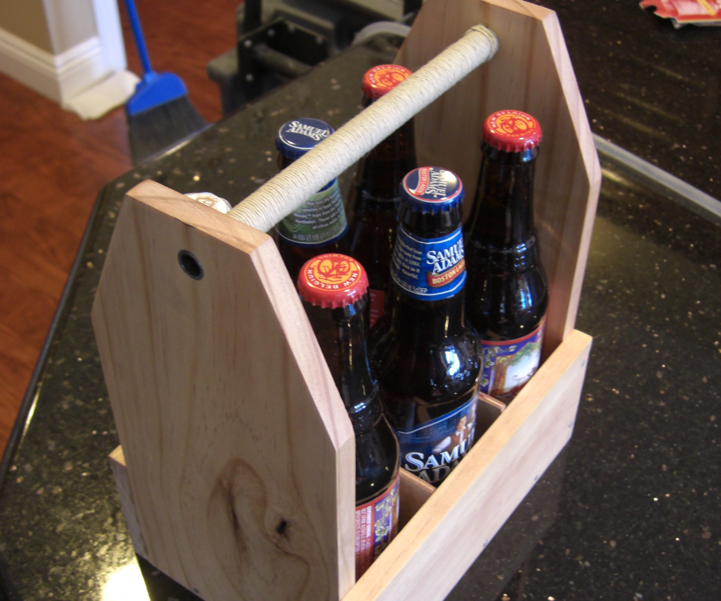Wooden 6 Pack Holder