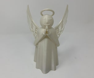 A 3D Printed Animated Angel Christmas Tree Topper.