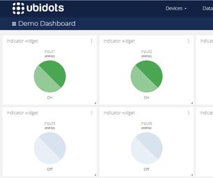 Publishing Multiple Digital Input Data of an ESP32 Device to Ubidots Over MQTT Protocol