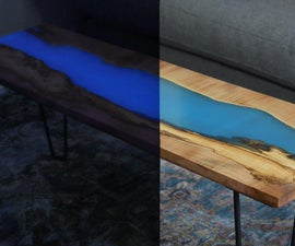 DIY Glow in the Dark Table