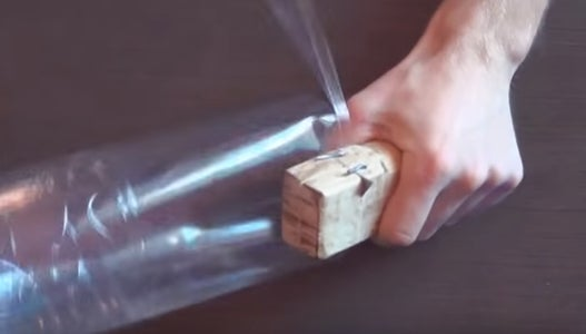 You May Get 4-5 Meters of a Strong Plastic Tape of One Plastic Bottle of 0,5 Liter.
