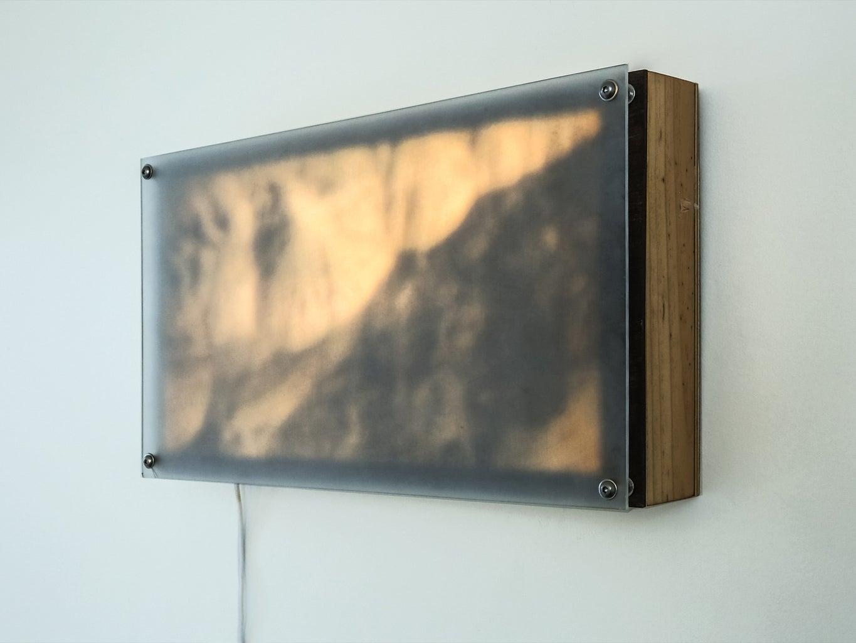 """Gullies, Mars"" Light Panel Series #3"