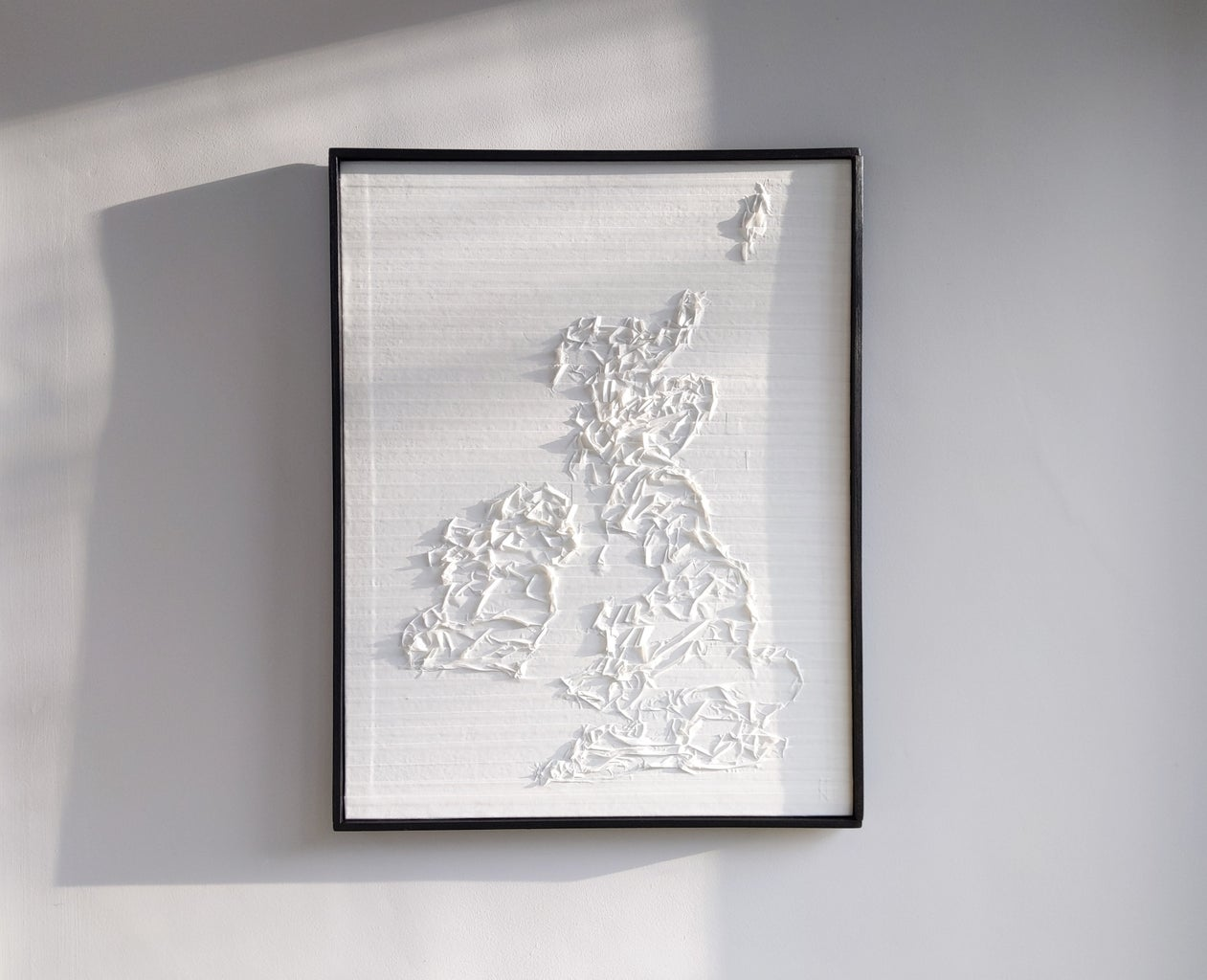 British Isles 3D Map From Masking Tape
