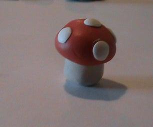 Polymer Clay Mario Mushroom
