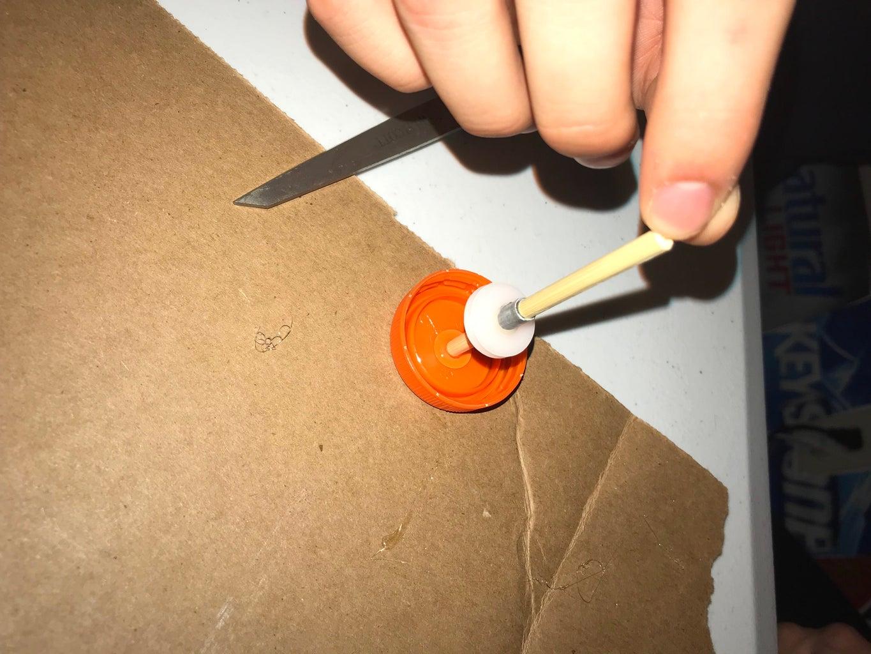 Hot Gluing Second Chopstick