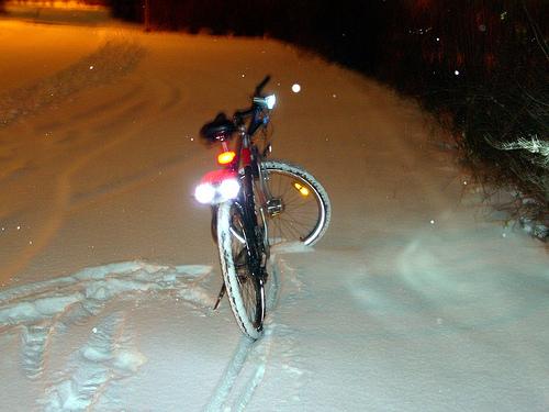 Bike taillight with a twist
