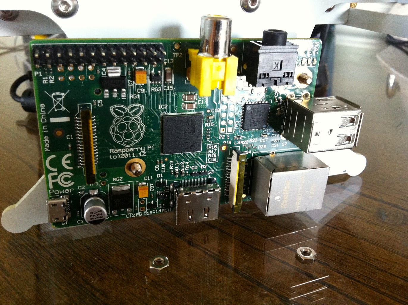 Install the Raspberry Pi Onto the EggBot