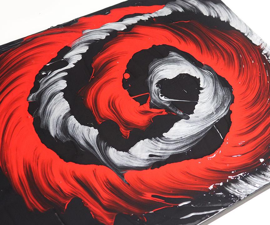 String Painting Spiral Pattern