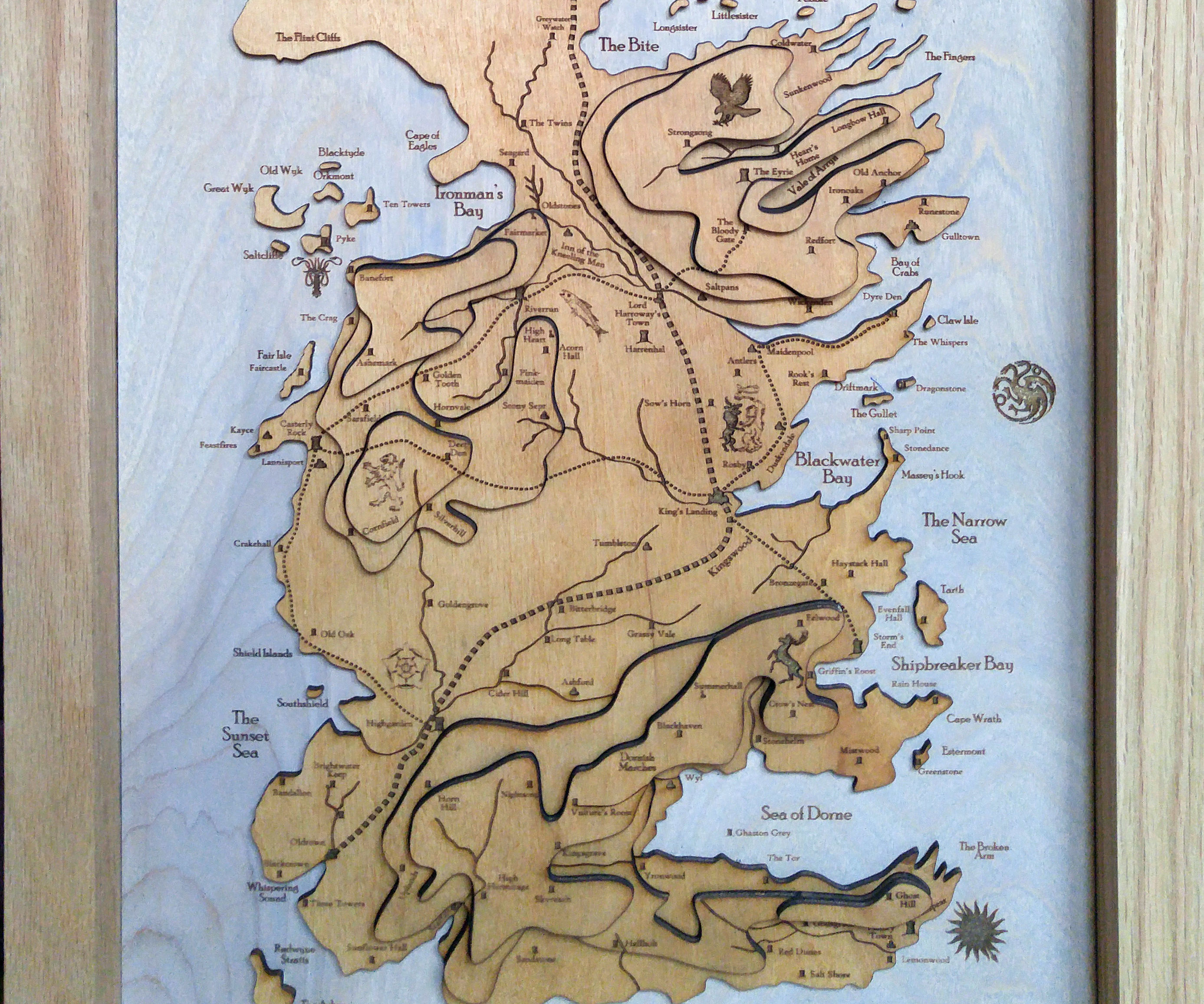 I Made a 3D Topographic Map of Westeros From Game of Thrones.