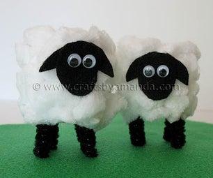 Cardboard Tube Lamb for Easter