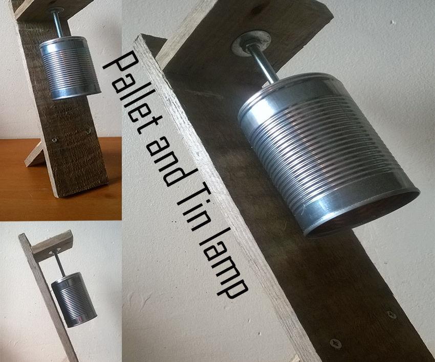 The Pallet Tin lamp