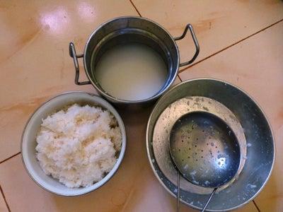 Soak Left-over Rice in Water