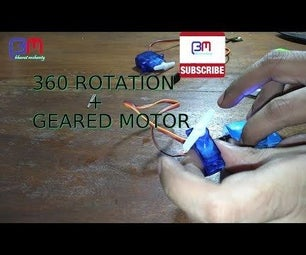 Servo Modification to 360° Rotation and Geared Motor