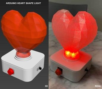 Arduino Heart Shape Light