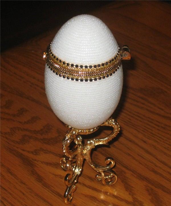 Beaded Goose Egg Surprise