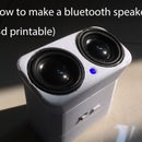 How to make a bluetooth speaker (3d printable)