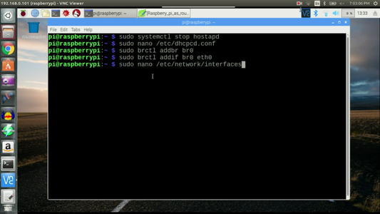 Edit /etc/network/interfaces