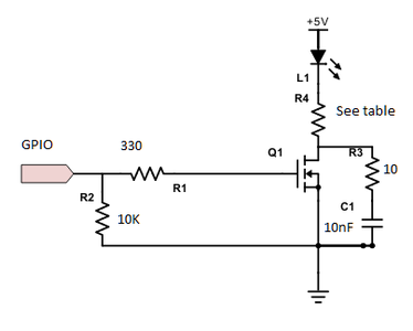 Parts Required: LED Control Circuitry