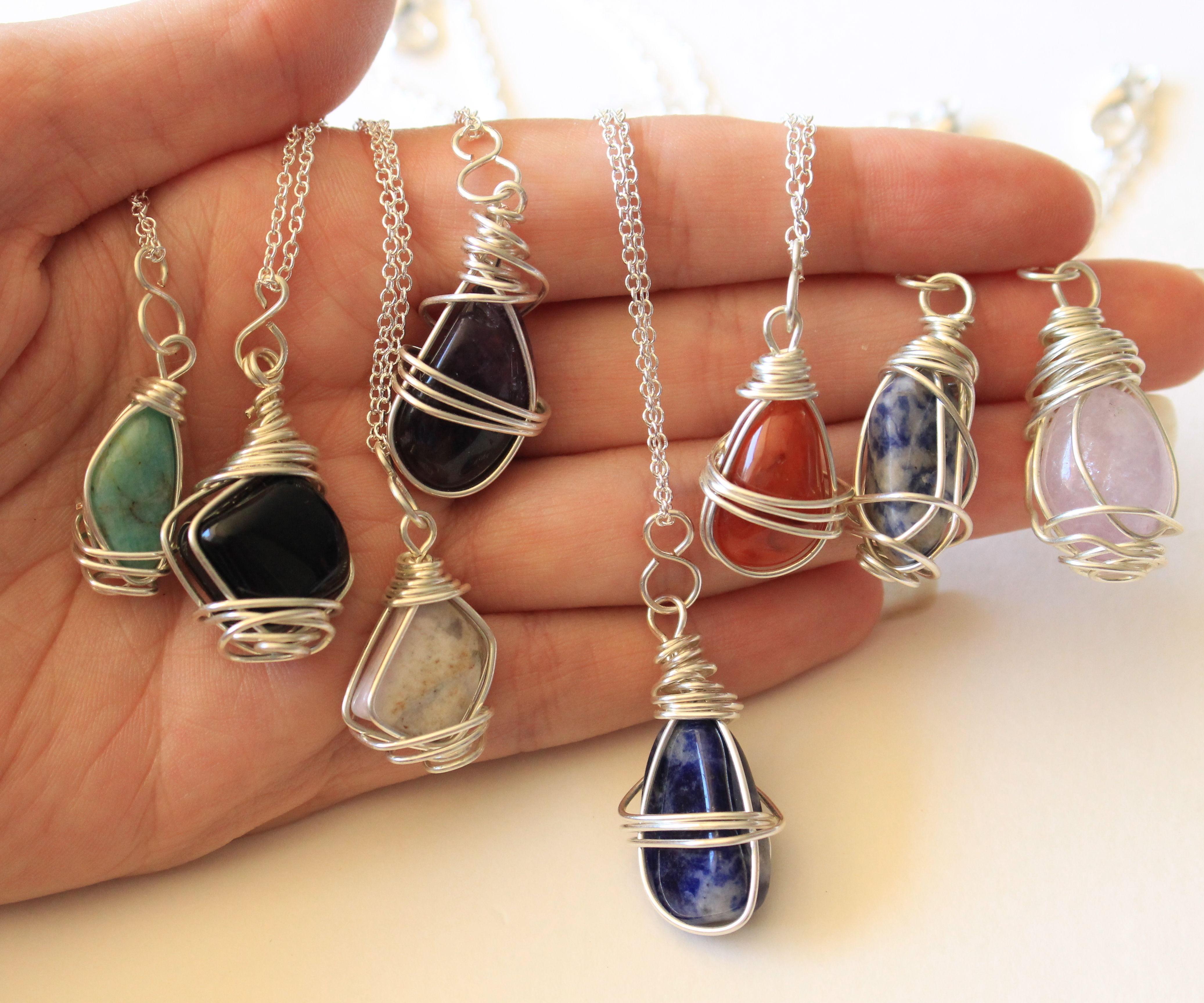 Wire Wrapped Stone Pendants II