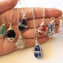Wire Wrapped Stone Pendants