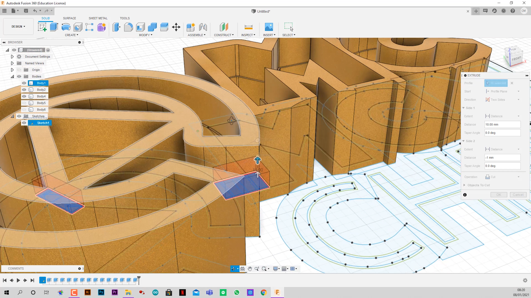 Modeling Your Poster on Fusion 360