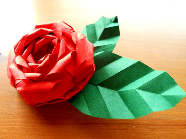How to Make an Origami Valentines Modular Rose!