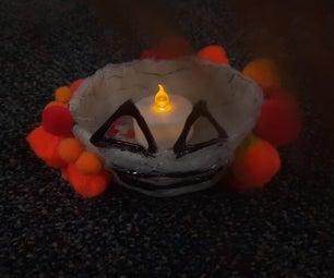 Pumpkin Made Out of Clay ( Tea Light Holder )