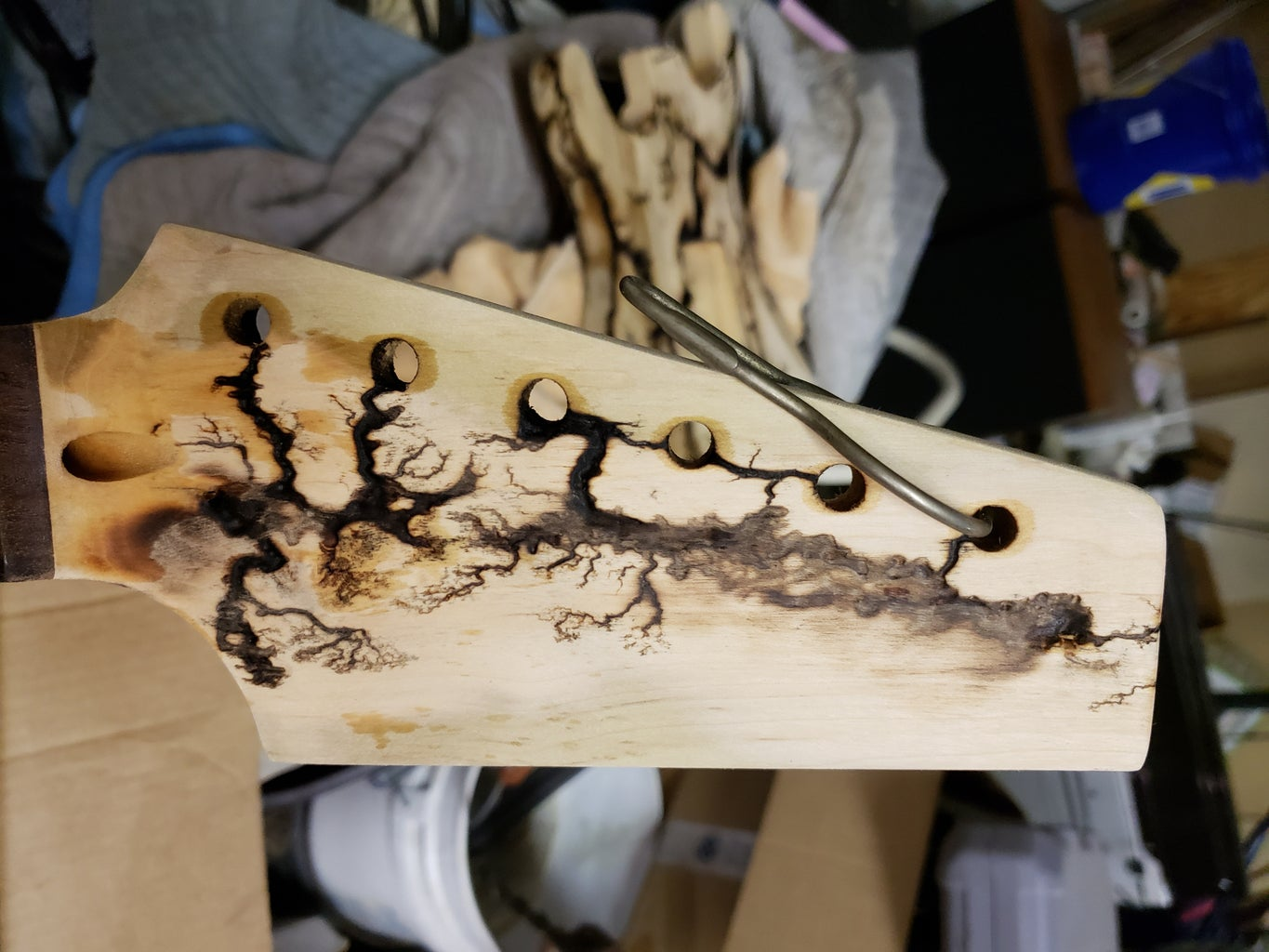 Wood Bleaching, Sanding, and Staining