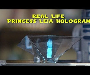 Real Life Princess Leia Hologram DIY - Turn Your Smartphone Into a 3D Hologram