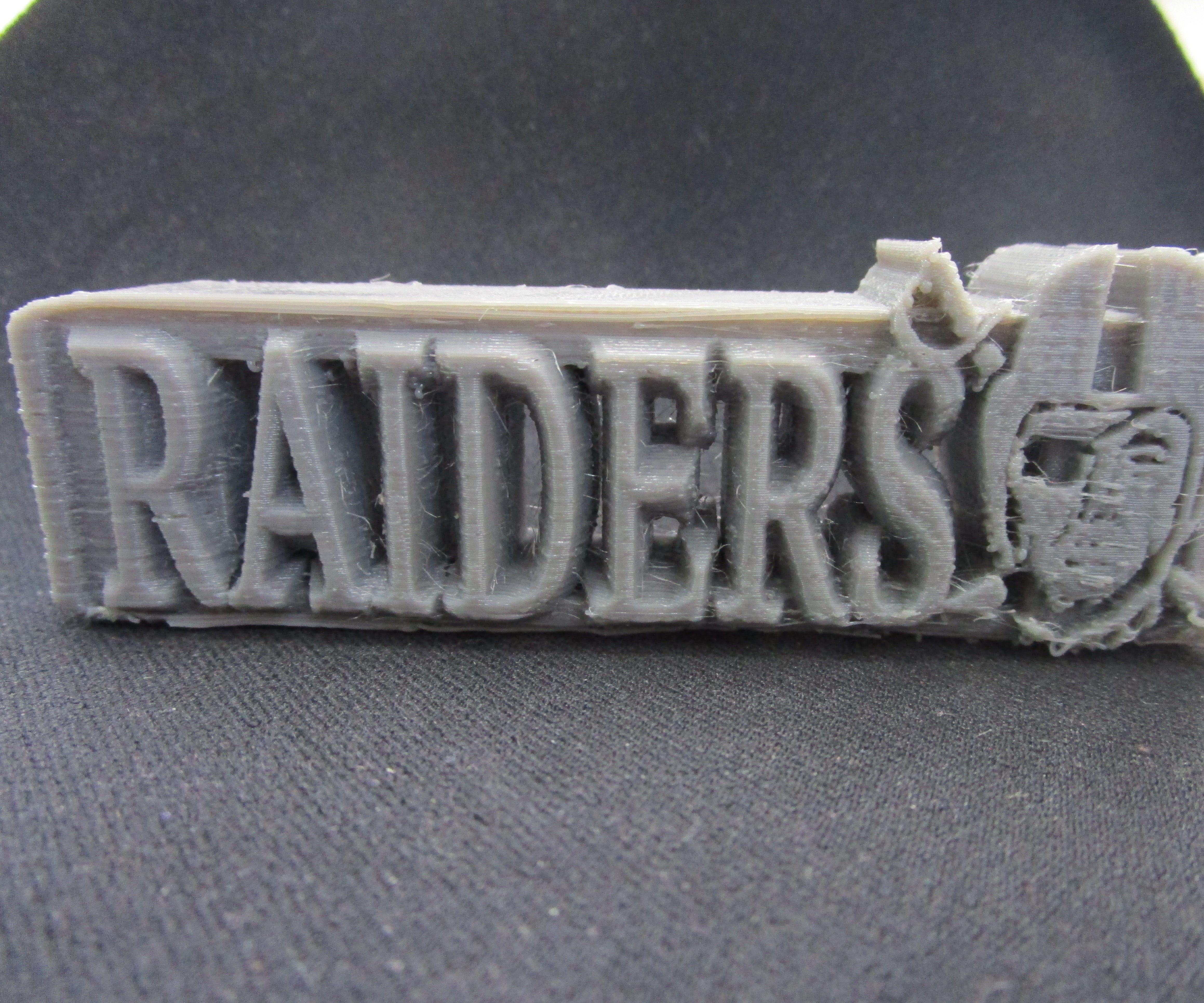 Raiders Fan Logo Desk Ornament