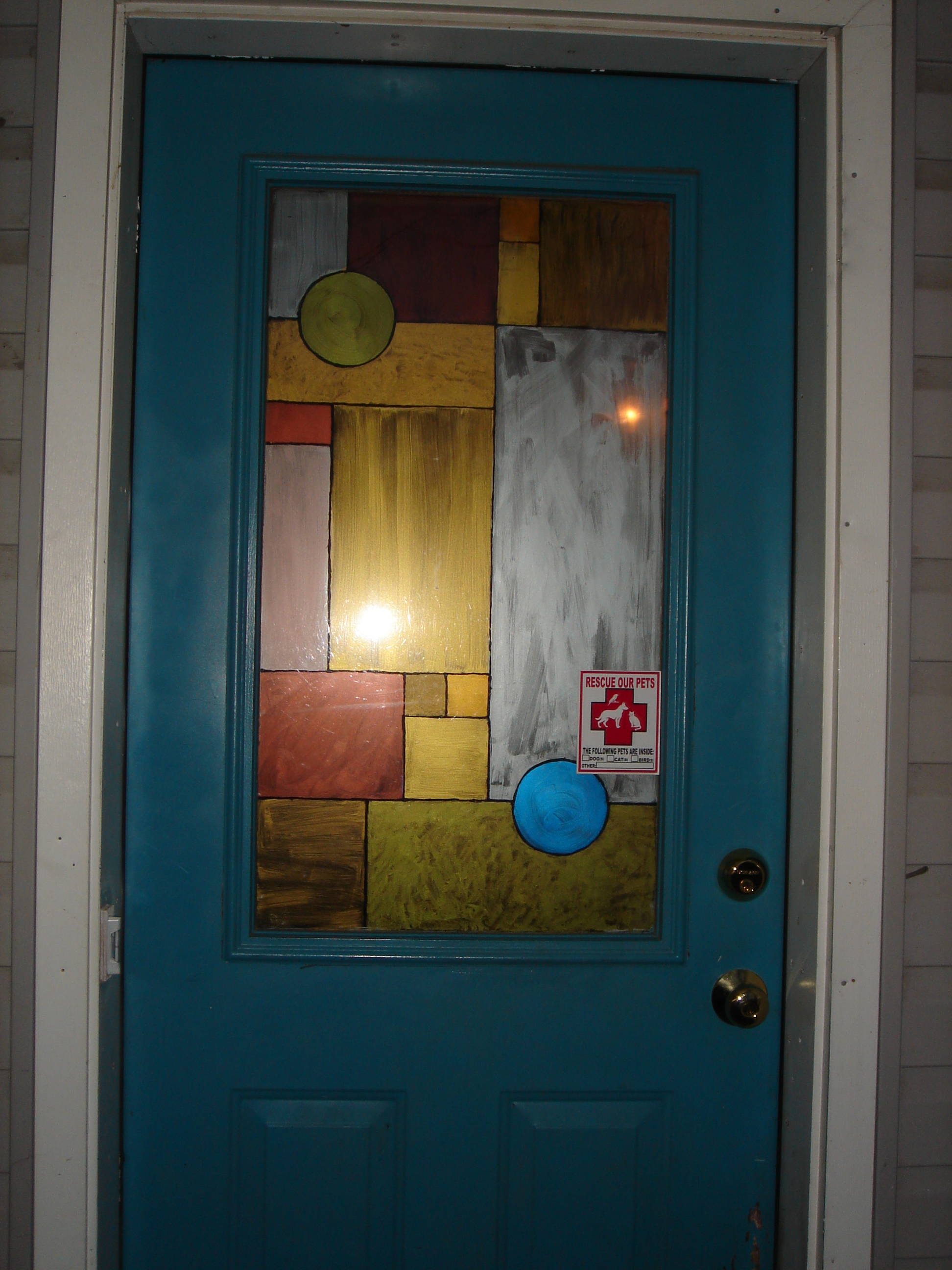 Faux Stained Glass Window 4 Steps With Pictures Instructables