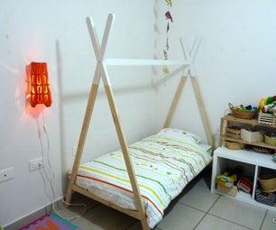Tepee-shaped Kid's Bed