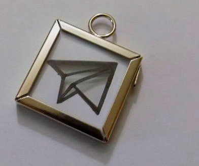 Paper Airplane Pendant