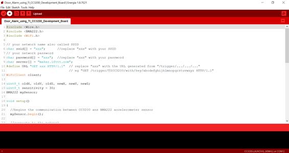 Programming TI CC3200 Launchpad: