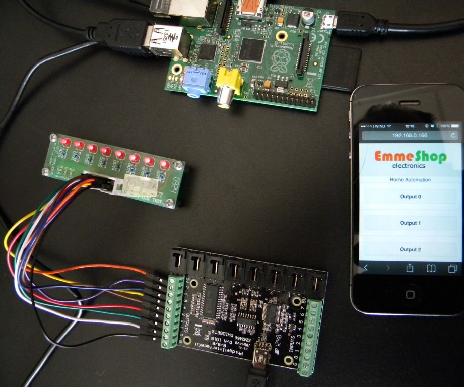Home Automation Raspberry and Phidgets