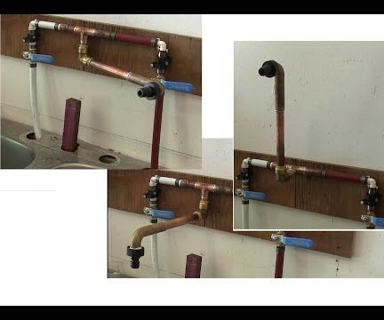 DIY fully articulated faucet design