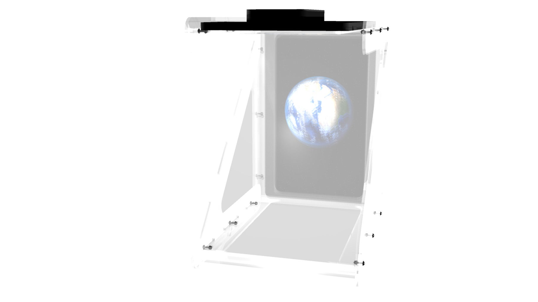 Large 16-in Portrait Holographic Display