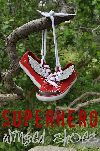 How to Make Superhero Winged Shoes