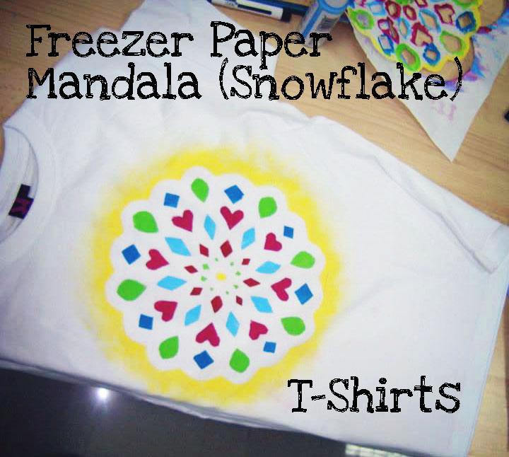 Freezer Paper Mandala (Snowflake) T-shirts