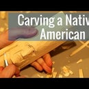 Carving a Native American Face