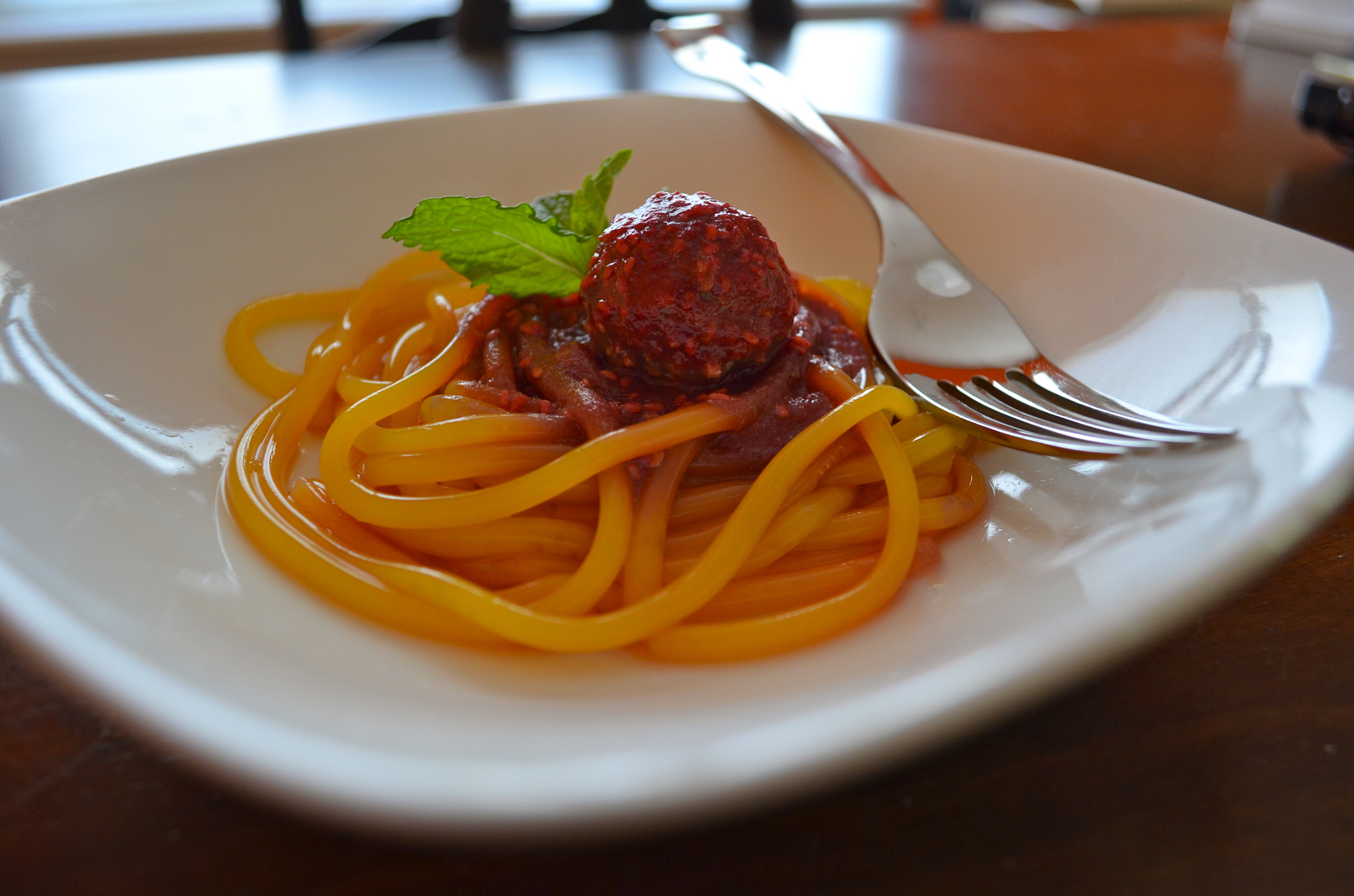 Mango Chocolate Raspberry Dessert Spaghetti